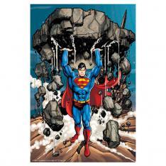 PUZZLE 3D LENTICULAR DC COMICS SUPERMAN LEVANTANDO ESCOMBROS 300 PIEZAS