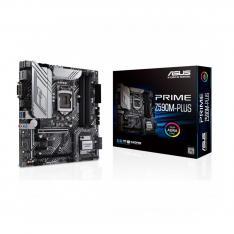 PLACA BASE ASUS INTEL PRIME Z590M-PLUS SOCKET 1200 DDR4 X 4 MAX 128GB 2933MHZ DISPLAY PORT HDMI DVI-D mATX