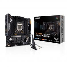 PLACA BASE ASUS INTEL TUF GAMING B560M-PLUS WIFI SOCKET 1200 DDR4 X4 MAX 128GB 3200MHZ DISPLAY PORT HDMI mATX