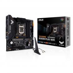 PLACA BASE ASUS INTEL TUF GAMING B560M-PLUS WIFI SOCKET 1200 DDR4 X4 MAX 128GB 3200MHZ DISPLAY PORT HDMI mATX