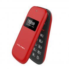 "TELEFONO VOLFEN FLIP ROJO DUAL DOBLE PANTALLA /DUAL SIM/PANTALLA 2.4"""