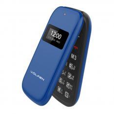 "TELEFONO VOLFEN FLIP AZUL DUAL DOBLE PANTALLA /DUAL SIM/PANTALLA 2.4"""