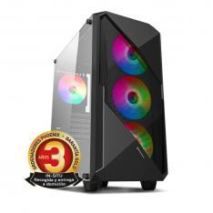 ORDENADOR PHOENIX GAMING RGB ZORK 5 BLACK AMD RYZEN 5 VGA VEGA11 16GB DDR4 2666 480GB SSD 1TB HDD ATX RGB PC