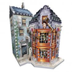 PUZZLE 3D WREBBIT HARRY POTTER TIENDA DE SORTILEGIOS WEASLEY Y DIARIO EL PROFETA 300 PIEZAS