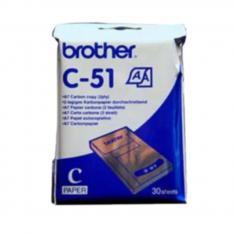 PACK DE PAPEL TERMICO BROTHER C51 A7 30 UNIDADES