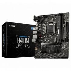 PLACA BASE MSI INTEL H410M PRO-VH SOCKET 1200 / DDR4 X2 / MAX 64GB / 2933MHZ / HDMI / VGA / MATX