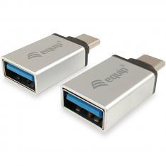 KIT DE ADAPTADORES EQUIP USB TIPO C A USB TIPO A MACHO-HEMBRA