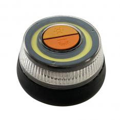 BALIZA SEÑAL LUZ DE EMERGENCIA LED 360 / HOMOLOGACION V16 / IP54 / MODO LINTERNA / PILAS AAA