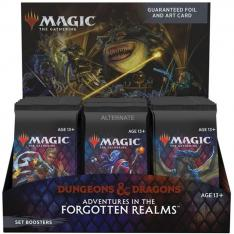 JUEGO DE CARTAS SET BOOSTER WIZARD OF THE COAST MAGIC THE GATHERING DUNGEONS & DRAGONS ADVENTURES IN THE FORGOTTEN REALMS 30 SOBRES INGLES