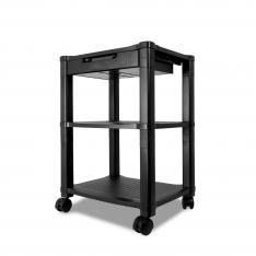 Phoenix Mesa Auxiliar Oficina para Impresora Ajustable en Altura Ruedas con Freno Cajon Hasta 30 kg de peso