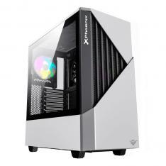 CAJA GAMING TORRE PHOENIX GLACIER / CRISTAL TEMPLADO / USB 3.0 / FILTROS ANTIPOLVO / INCLUYE VENTILADOR ARGB 14CM + 12CM / CONTROLADORA ARGB PREINSTALADA