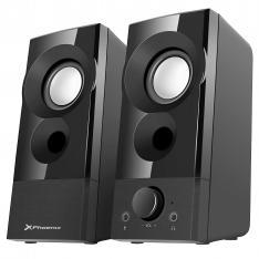 Phoenix Altavoces PrivateSound 6W RMS Conexion Jack + USB Conector para Auriculares y Microfono