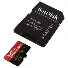 TARJETA MEMORIA SANDISK MICRO SECURE DIGITAL 128GB SDXC EXTREME PRO U3 UHS-I CLASE 10 A2