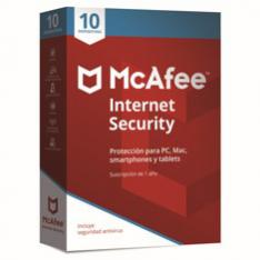 ANTIVIRUS MCAFEE INTERNET SECURITY 2019 10 DISPOSITIVOS