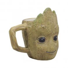 TAZA 3D MARVEL GUARDIANES DE LA GALAXIA GROOT 350 ML