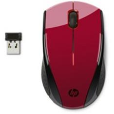 MOUSE HP OPTICO X3000 INALAMBRICO 1200PPP SUNSET ROJO