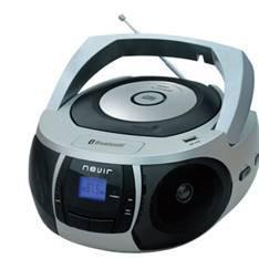 RADIO CD MP3 PORTATIL NEVIR NVR- 481UB PLATA   BLUETOOTH