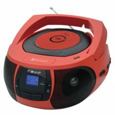 RADIO CD MP3 PORTATIL NEVIR NVR- 481UB ROJO / BLUETOOTH