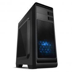 CAJA ORDENADOR GAMING NOX MODUS ATX  USB 3.0 AZUL Y NEGRA SIN FUENTE