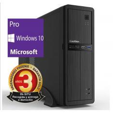 ORDENADOR DE OFICINA PHOENIX OBERON PRO INTEL CORE I3 8º GEN 4GB DDR4 240 GB SSD RW MICRO ATX SLIM  PC SOBREMESA WINDOWS 10 PRO