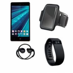 TELEFONO MOVIL SMARTPHONE WOO CASIOPEA 3 NEGRO 5 + PULSERA DE ACTIVIDAD +  BRAZALETE IMPERMEABLE + AURICULARES DEPORTIVOS
