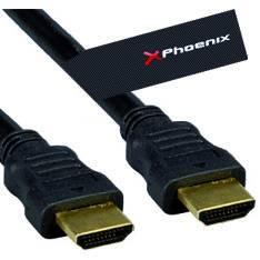 CABLE HDMI PHOENIX 1.4 MACHO MACHO CONEXION ORO 5M NEGRO