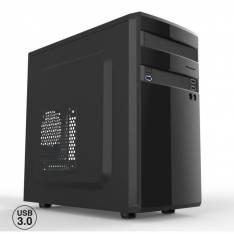 CAJA ORDENADOR SEMITORRE MICRO ATX OEM PHCAJAMICROATXL/C+  1* USB 3.0 2*USB 2.0 SIN FUENTE NEGRO BRILLANTE