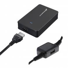 ADAPTADOR CARGADOR DE CORRIENTE UNIVERSAL AUTOMATICO  PHOENIX PHCHARGER40+ 40W  (INCLUYE 5 CONECTORES)  PARA PORTATILES Y NETBOOKS CON PUERTO USB