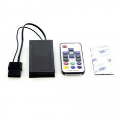 CONTROLADORA RGB PARA VENTILADOR GAMING PHOENIX + CONTROL REMOTO / HASTA 10 VENTILADORES / HASTA 2 TIRAS LED / NEGRO