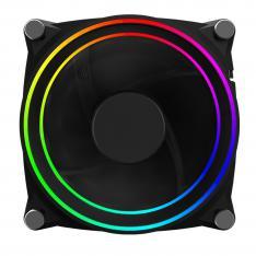 VENTILADOR PHOENIX LED ARGB GAMING 120MM DOBLE ANILLO / 1200 RPM / ORIENTACIÓN SACAR AIRE