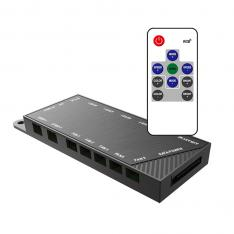 CONTROLADORA RGB PARA VENTILADOR GAMING PHOENIX / HASTA 5 VENTILADORES / HASTA 2 TIRAS LED / CONTROL REMOTO / NEGRO