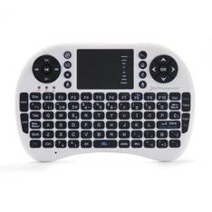 MINI TECLADO INALAMBRICO WIRELESS 2.4GHZ PHOENIX TOUCHPAD MULTIMEDIA  SMART TV / TVBOX / ANDROID TV / COLOR BLANCO Y NEGRO