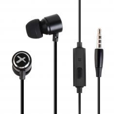 Auriculares Phoenix de Boton con Microfono Manos libres Colgar y Descolgar en Cable Conector Jack 3.5 Color Negro