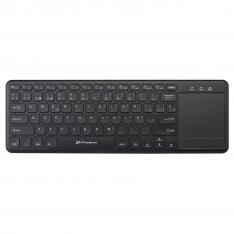 TECLADO MULTIMEDIA QWERTY ESPAÑOL WIRELESS INALAMBRICO 2.4GHZ TOUCHPAD  PHOENIX PHWIRELESSKEYPAD / PLUG AND PLAY USB DONGLE / PARA WINDOWS / ANDROID / SMART TV /  CHROME / COLOR NEGRO