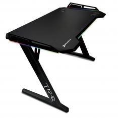 Phoenix Zaphir Mesa Gaming Profesional RGB Carga Inalambrica 3 x USB 3.0 Jack Auriculares + Jack Microfono Soporte para Regleta Posavasos