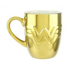 Taza Paladone DC Wonder Woman Logo Dorado 350ml