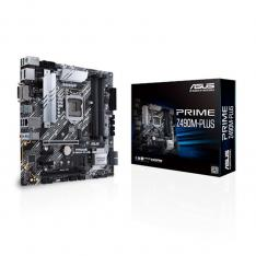 PLACA BASE ASUS INTEL PRIME Z490M-PLUS SOCKET 1200 DDR4 X4 MAX 128GB 2666MHZ DVI-D DISPLAY PORT HDMI MATX