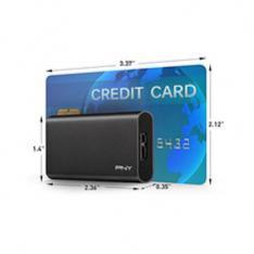 DISCO DURO EXTERNO SOLIDO HDD SSD PNY CS1050 240GB USB 3.1 NEGRO