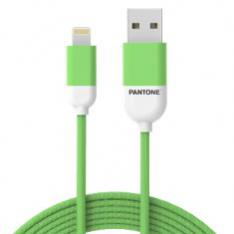 CABLE NYLON PANTONE LIGHTNING A USB 1.5M VERDE
