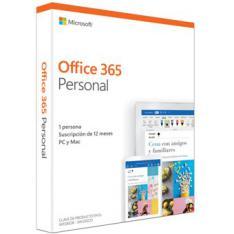 OFFICE 365  PERSONAL 1 USUARIO 1 AÑO EN CAJA