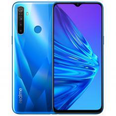 "TELEFONO MOVIL SMARTPHONE REALME 5 CRYSTAL BLUE / 6.5"" / 128GB ROM / 4GB RAM / 12+8+2+2MPX - 13MPX / 4G/ LECTOR HUELLA"