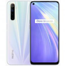 TELEFONO MOVIL SMARTPHONE REALME 6 COMET WHITE   6.5   64GB ROM   4GB RAM   64MPX - 16MPX   LECTOR HUELLA