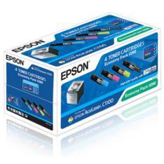PACK TONER EPSON ACULASER C1100 PACK DE 3 UNIDADES COLOR + 1 NEGRO