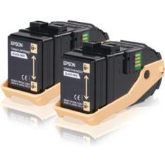 DOBLE TONER EPSON C13S050609 NEGRO 6.5K X2