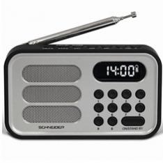 RADIO DIGITAL SCHNEIDER HANDY MINI PLATA/ ALARMA