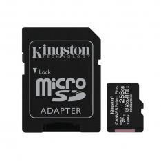 TARJETA MEMORIA MICRO SECURE DIGITAL SD HC 256GB KINGSTON CANVAS SELECT PLUS CLASE 10 UHS-1 + ADAPTADOR SD