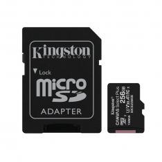 TARJETA MEMORIA MICRO SECURE DIGITAL SD HC 256GB KINGSTON CANVAS SELECT PLUS CLASE 10 UHS-1 + ADAPTADOR SD