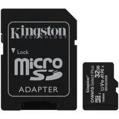TARJETA MEMORIA MICRO SECURE DIGITAL SD HC 32GB KINGSTON CANVAS SELECT PLUS CLASE 10 UHS-1 + ADAPTADOR SD