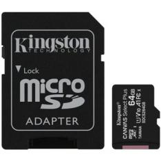 TARJETA MEMORIA MICRO SECURE DIGITAL SD HC 64GB KINGSTON CANVAS SELECT PLUS CLASE 10 UHS-1 + ADAPTADOR SD