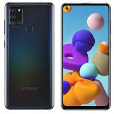 """TELEFONO MOVIL SMARTPHONE SAMSUNG GALAXY A21S BLACK 6.5""""/ 64GB ROM/ 4GB RAM/ 48+8+2+2 MPX - 13 MPX/ 5000 MAH/ HUELLA"""